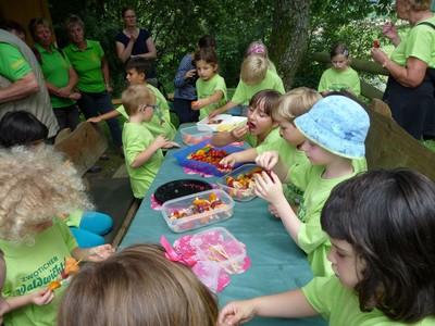 Picknick für hungrige Wanderkinder: Kita-Wanderung in Zwota