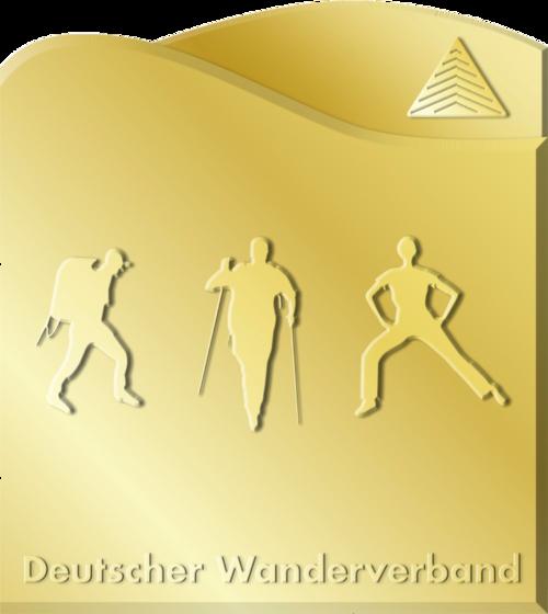 Das goldene Deutsche Wanderabzeichen