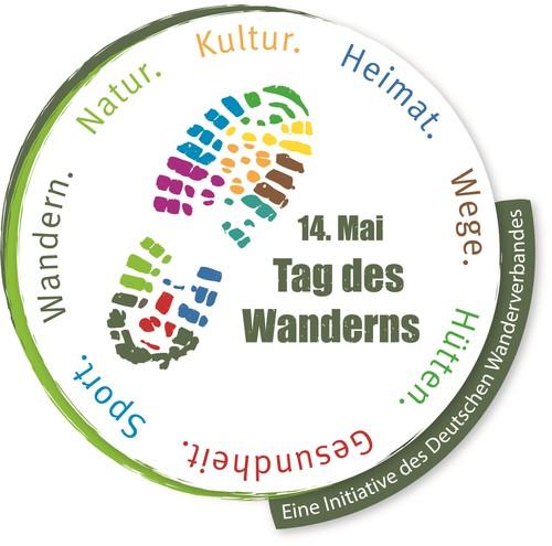 Das Logo zum 14. Mai - Tag des Wanderns zeigt die Vielfalt, die das Wandern ausmacht.