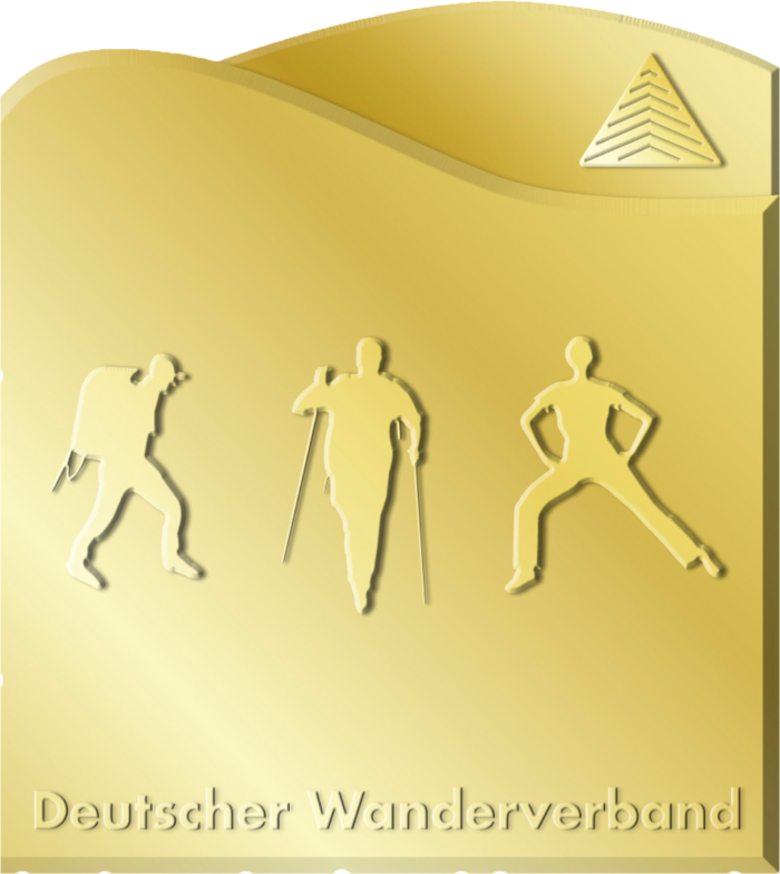 Deutsches Wanderabzeichen in Gold