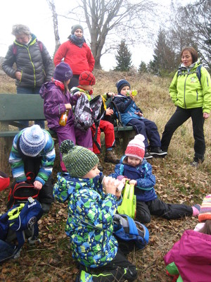 Wanderung mit Kita-Kindern in Zwota