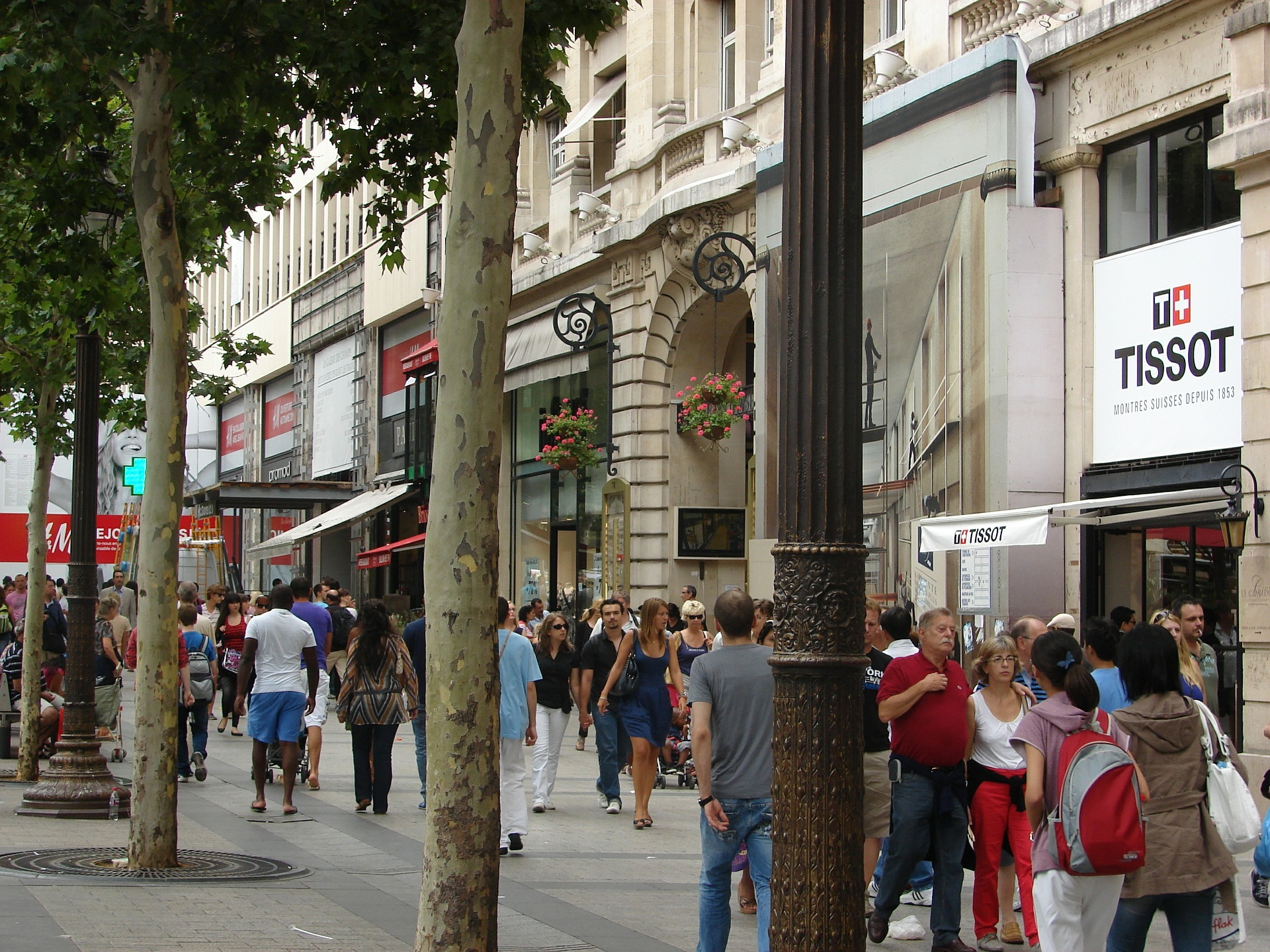 Fußgänger in Paris